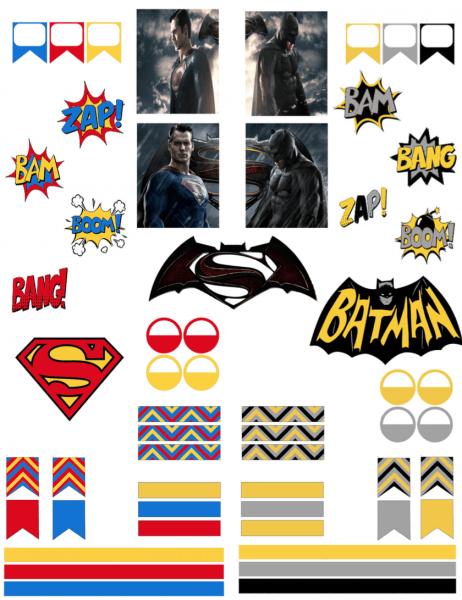 Batman Vs Superman Happy Planner Stickers