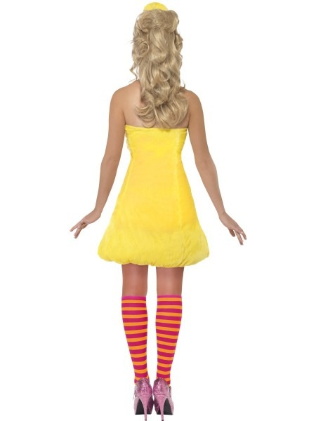 Sesame Street Big Bird Costume, Yellow, With Dress, Headpiece And