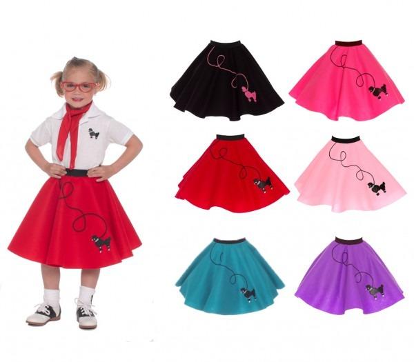 Hip Hop 50s Shop Girls Poodle Skirt Halloween Dance Costume