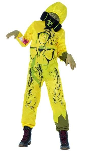 Boys Yellow Hazmat Suit Zombie Costume