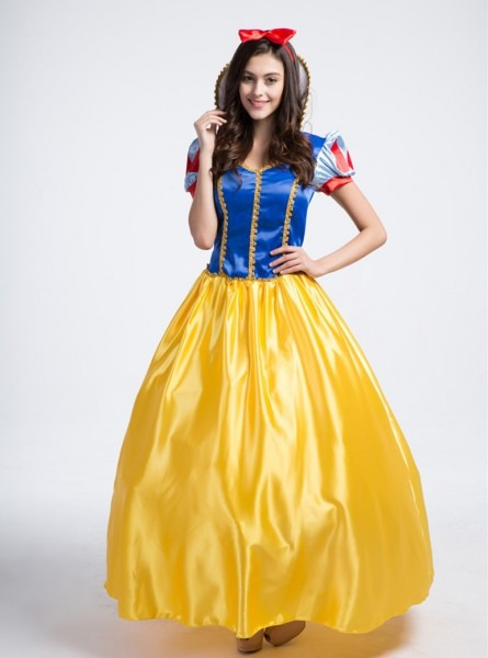 Snow White Costume Adult Women Fairytale Princess Cosplay Long