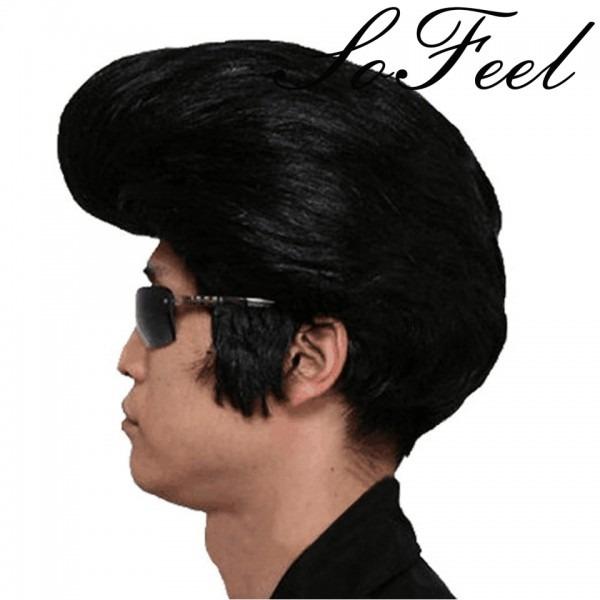 Sofeel Rock N' Roll Elvis Presley Costume Wig The Plane Head