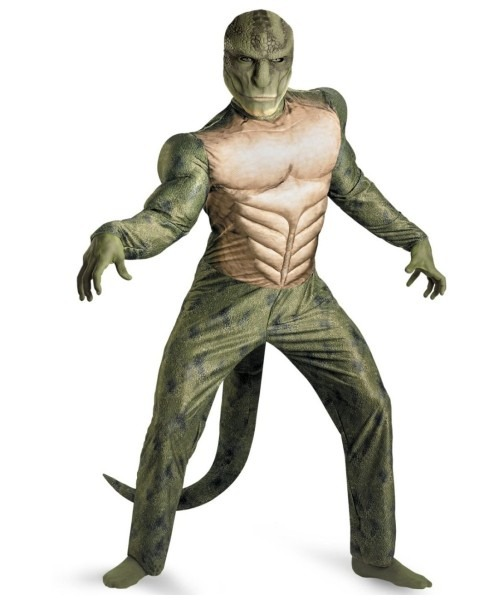 Adult The Amazing Spider Man Movie Lizard Muscle Plus Halloween