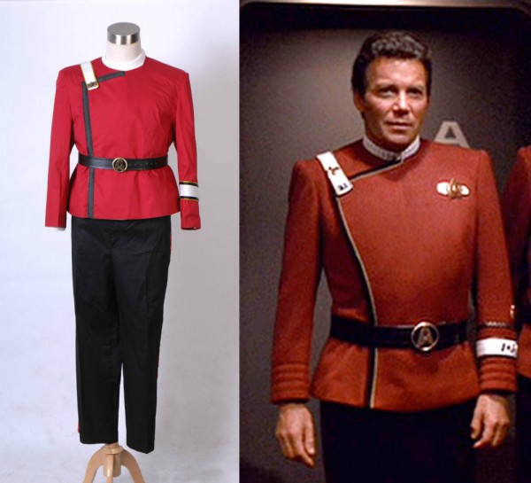Star Trek Cosplay Wrath Of Khan Starfleet Costume Full Set Uniform