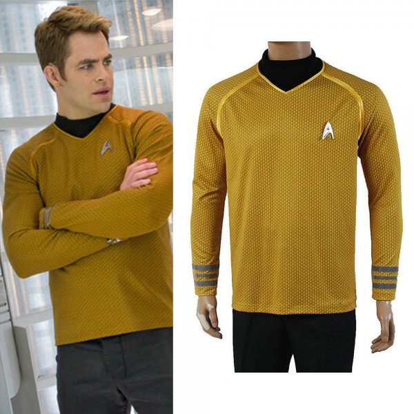 Star Trek Into Darkness Captain Kirk Shirt Uniform Cosplay Costume