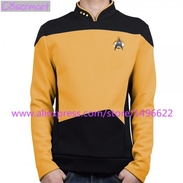 Star Trek Tng The Next Generation Red Yellow Blue Shirt Uniform