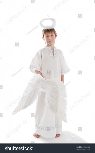 Little Angel Young Boy Angel Costume Stock Photo (edit Now