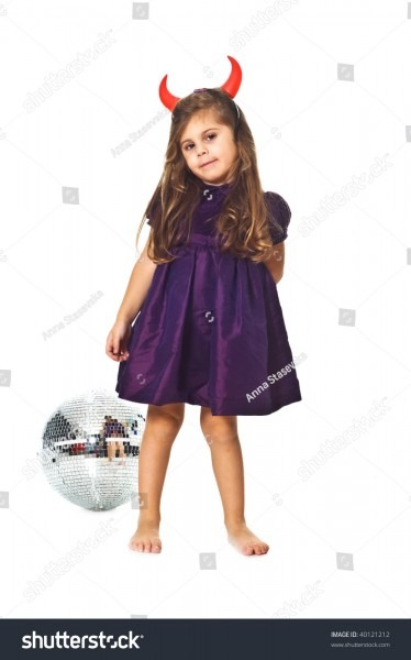 Little Girl Disco Ball Stock Photo (edit Now) 40121212