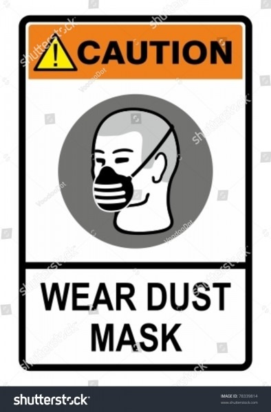 Wear Your Dust Mask Safety Warning Stock Vector (royalty Free