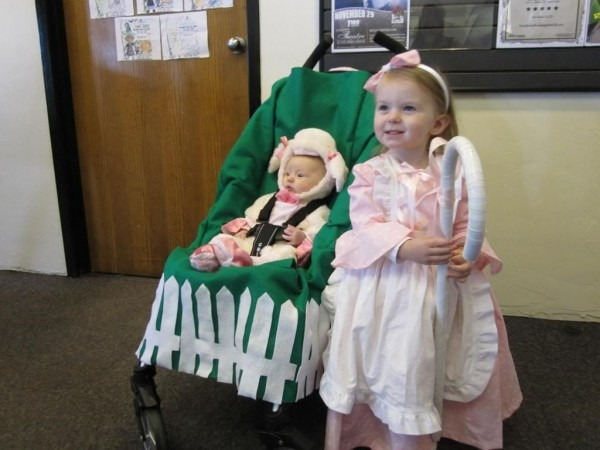 Stroller Costume Halloween Sibling Costume Little Bo Peep And Lamb