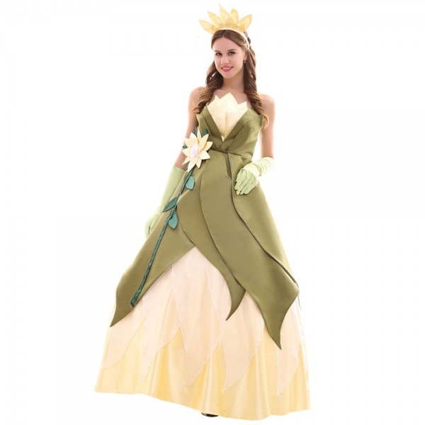 The Princess And The Frog Tiana Princess Dress Costume Adult