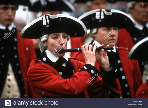 The Us Army Old Guard Dressed In Colonial Costume Play During The