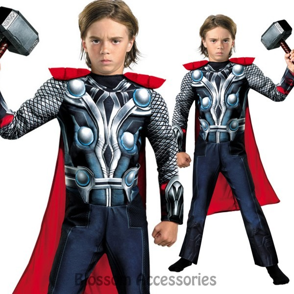 Ck709 Thor Superhero Hero Avengers Child Boys Kids Fancy Dress