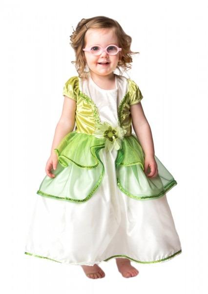 Toddler Frog Princess Tiana Replica Dress Up Costume