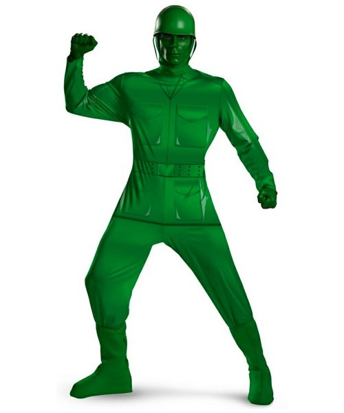 Army Toy Sty Green Man Adult Plus Size Costume