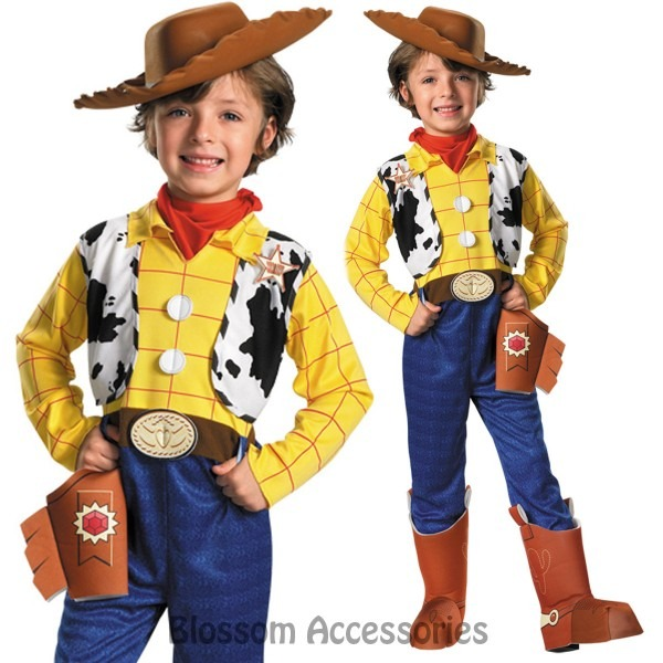 Ck699 Deluxe Toy Story Cowboy Woody Fancy Dress Up Child Boys Book