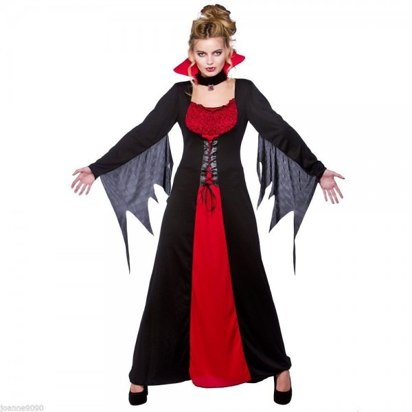 Vampiress Queen Costume Elegant Vampire Dress Halloween Sexy