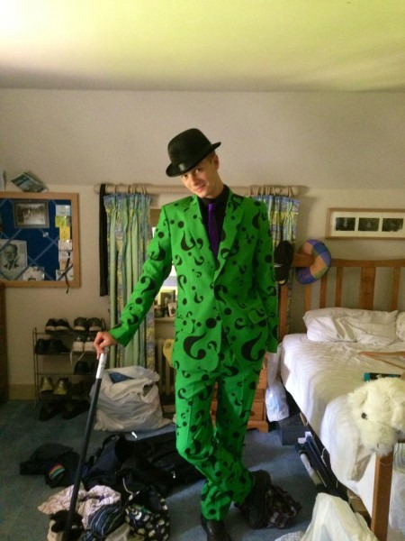 My Brother's Riddler Costume  I Think He Nailed It    Pics