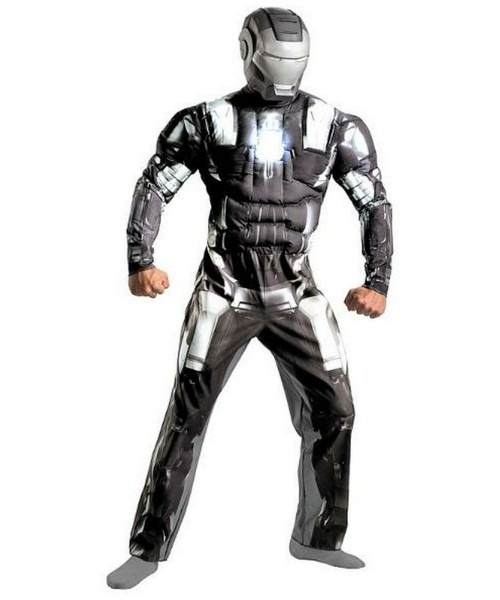 Adult Iron Man 2 War Machine Muscle Ironman Movie Costume