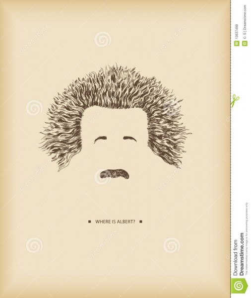 Where Is Albert  Stock Vector  Illustration Of Einstein
