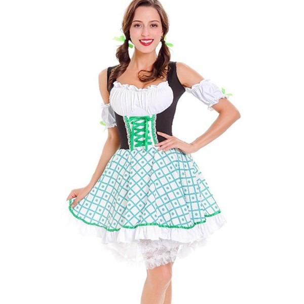 White German Beer Girl Maid Dress Sexy Costume  2whi36862