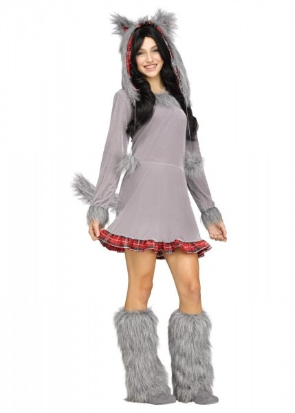 Wolf Club Girls Teen Costume