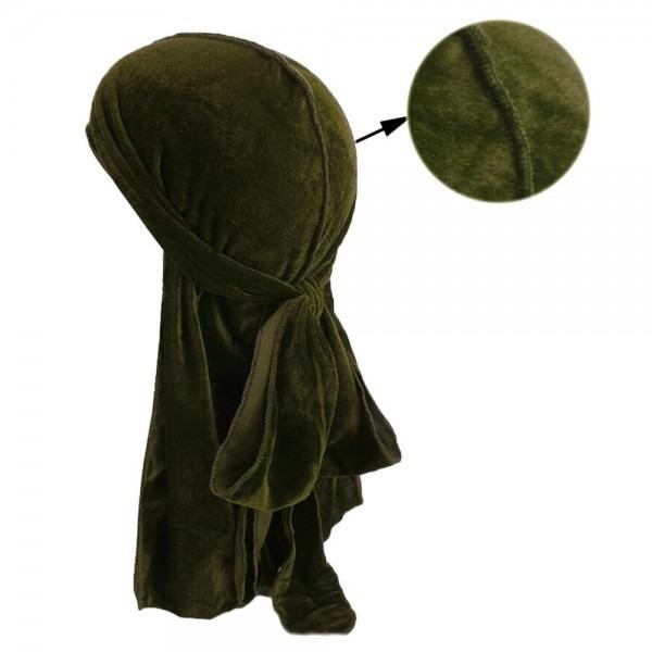 Women Long Tail Pirate Hat Hijab Muslim Velvet Turban Cap Headwear