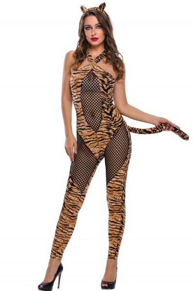 Women Sexy Adult Tiger Costume Set 2016 Halloween Costumes Cosplay