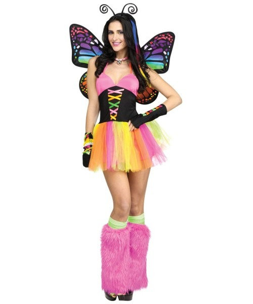 Brilliant Rainbow Butterfly Womens Costume