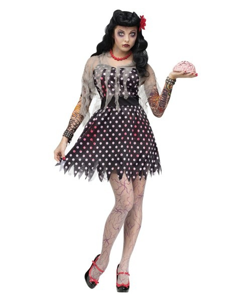 Rockabilly Zombie Womens Costume
