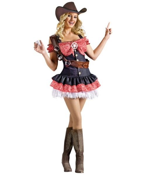 Adult Shotgun Sheriff Cowgirl Costume