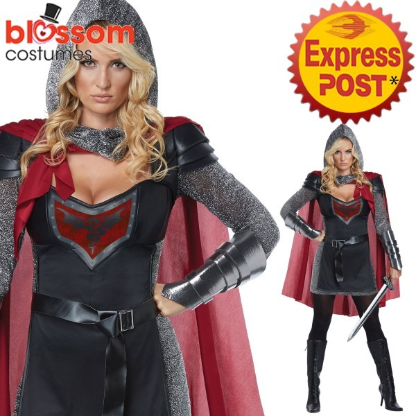 Ca514 Womens Valorous Knight Costume Medieval Renaissance Warrior