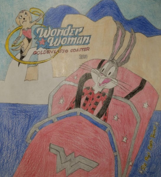 Wonder Woman Ride With Bugs Bunny By Bugsbunny82 On Deviantart