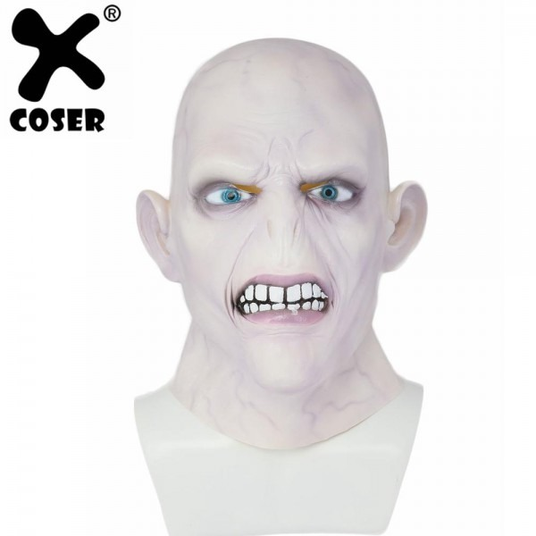 Xcoser Lord Voldemort Mask Cosplay Fleshcolour Full Head Mask 2018