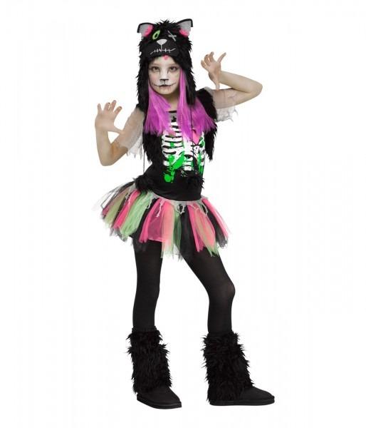 Zombie Cat Girls Halloween Kitty Costume