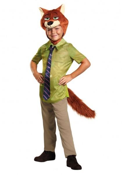 Zootopia Nick Wilde Boys Costume Fox Halloween Men Costumes For