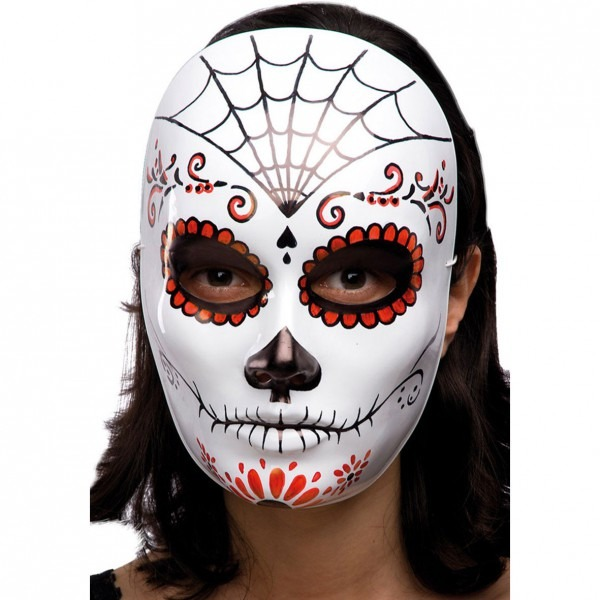 White Face Mask W Decorations