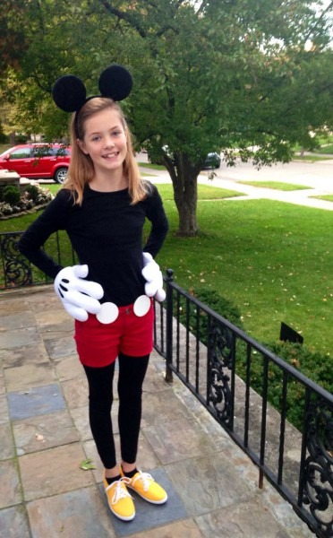 Mickey Mouse Halloween Costume For Tween Girl  ) Ears And Gloves