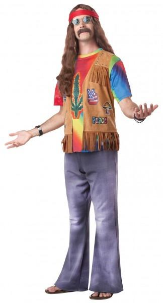 Men's Hippie Fancy Dress Costume