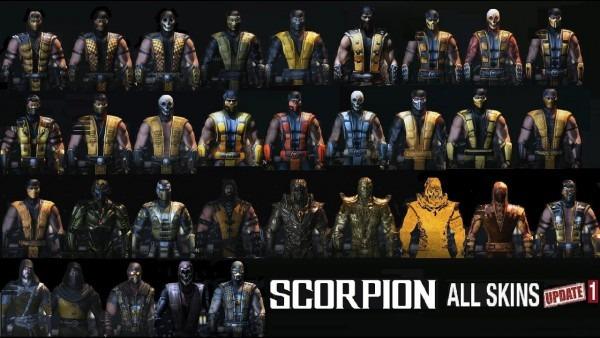 Mortal Kombat Xl All Scorpion Mkxl Costume Skin Pc Mod+link