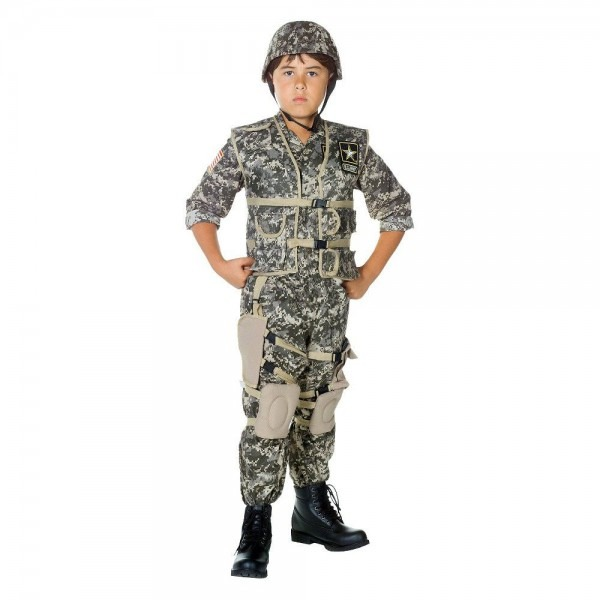 Boys' U S  Army Ranger Deluxe Costume Small (4
