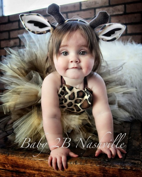 Safari Giraffe Costume With Leggings, Birthday Tutu Pageant Outfit