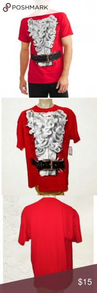 New Santa Suit Holiday Party Graphic T Shirt 2xl Holiday Santa