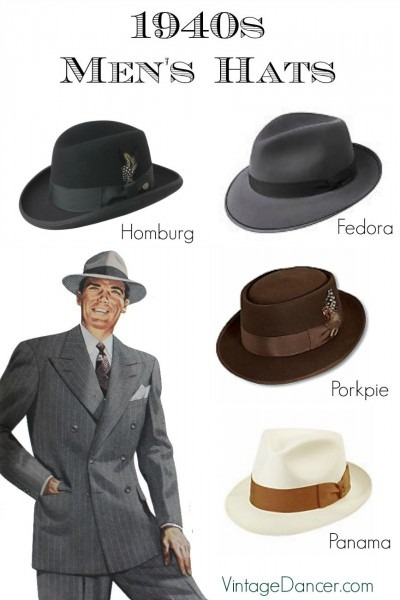 1940s Men's Hats  Vintage Styles, History, Buying Guide