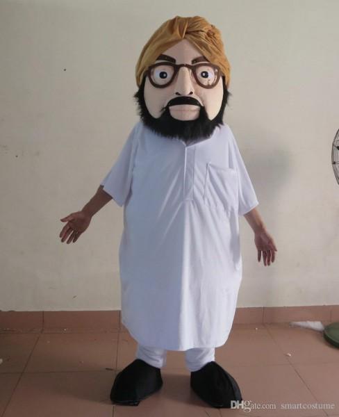 100  Real Photo Adult Arabian Arabic Arab Mascot Costume With One
