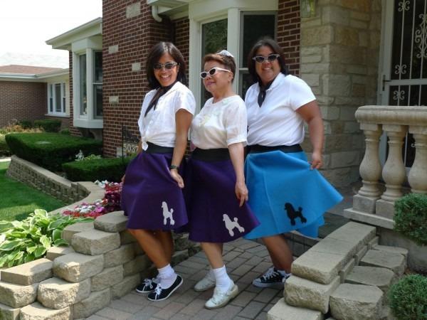 Handmade Custom Retro Poodle Skirts 50's Sock Hop Circle Skirts