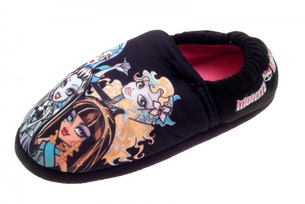 Monster High Slippers Girls Indoor Pink Mules Character Shoes Kids