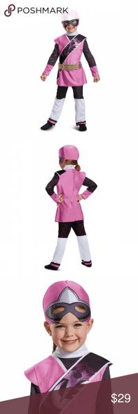 Nwt Pink Power Ranger Costume 3t 4t Ninja Steel Power Rangers