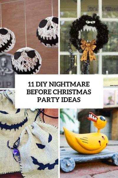 11 Diy Nightmare Before Christmas Halloween Party Ideas