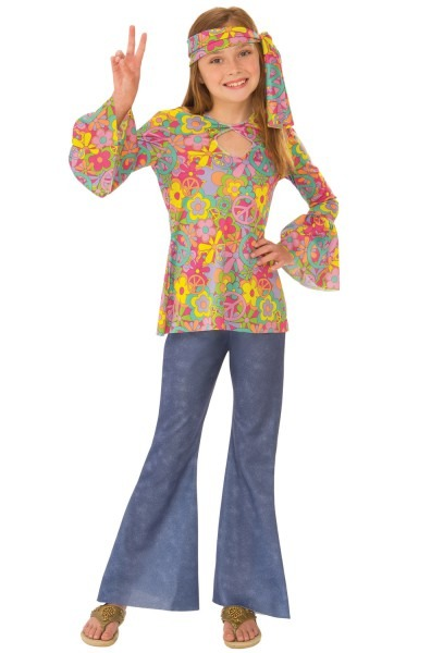 Pure Costumes  Rubies Groovy Flower Child Child Costume